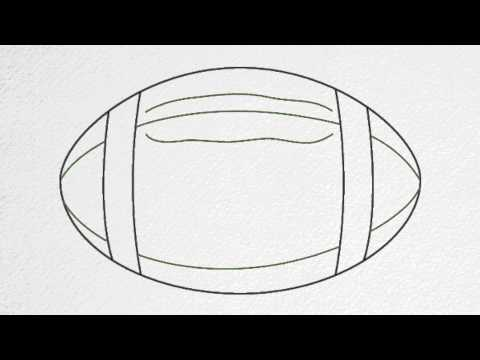 how to draw a football goal step by step