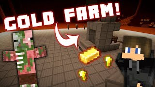 SUPER EASY ZOMBIE PIGMAN (GOLD) Farm in Minecraft 1.14! (Toggleable XP Mode!)