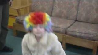 Naya, clown wig at office 01.mp4