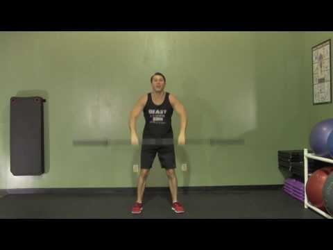 Barbell Clean and Jerk from Floor - HASfit Olympic Exercise - Olympic Lift Form Image 1