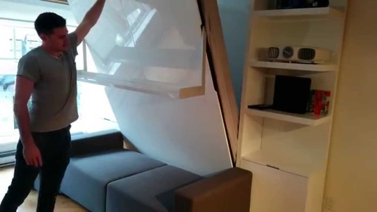MurphySofa Float wall bed sofa in Vancouver Canada - YouTube