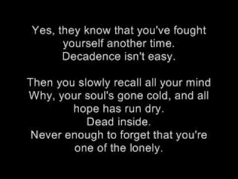 Decadence Lyrics By DIsturbed