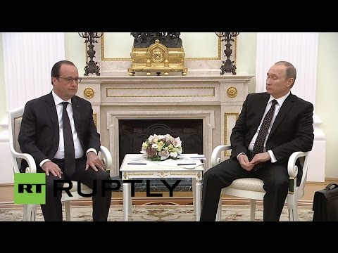 LIVE: Putin and Hollande give a joint press conference following their meeting - English Audio
