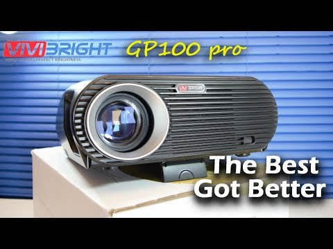 ViviBright GP100 Pro Projector - Best 720p WXGA LED Projector 2017