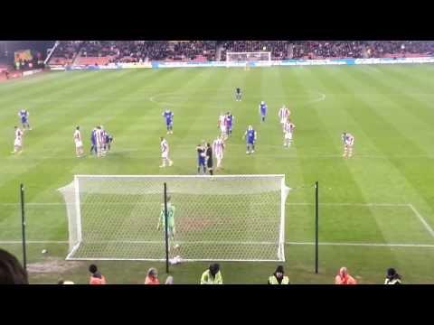 Leighton Baines against Stoke
