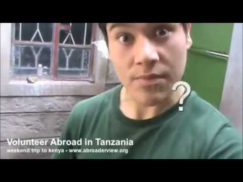 Volunteer working at a School in Tanzania Abroaderview Part 3