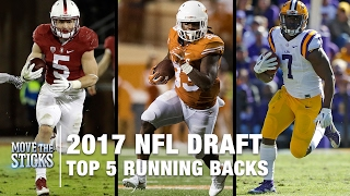 Top 5 Running Backs in the 2017 NFL Draft | NFL | Move the Sticks