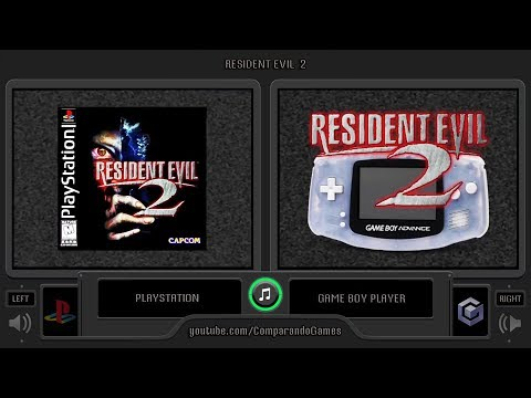Resident Evil 2 (PS1 vs GBA) Side by Side Comparison (Game Boy Player)