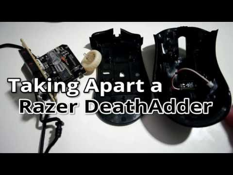 Razer DeathAdder disassembly - Cleaning Internals and Fixing Scroll Wheel Problems