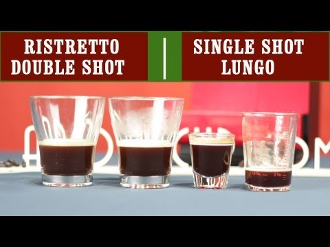 Ristretto. Single Espresso Shot. Double Espresso Shot and Lungo   Easy Coffee Recipes