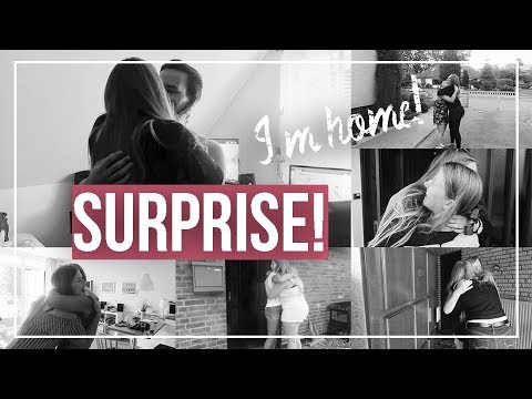 SURPRISE - I'M HOME! | Surprising everyone after 13 months abroad | au pair vlog #57