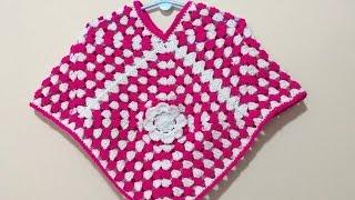 Download Simple elegant poncho - all sizes - 4 granny squares - crochet - Tamil 3Gp Mp4