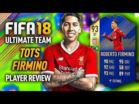 FIFA 18 TOTS FIRMINO (93) PLAYER REVIEW! FIFA 18 ULTIMATE TEAM!