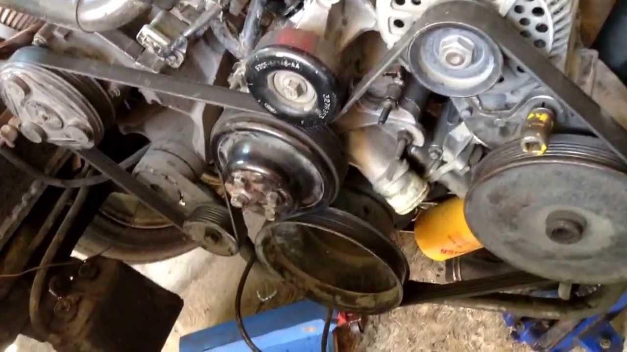 como instalar la banda del motor 3 8
