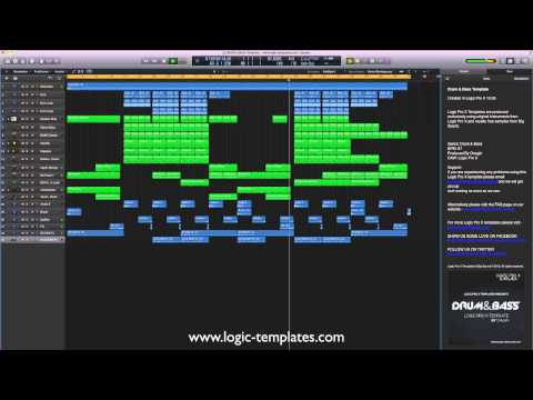 Drum & Bass Logic Pro X Template