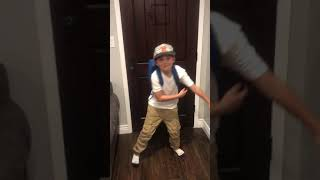 8 year old 'Backpack kid'
