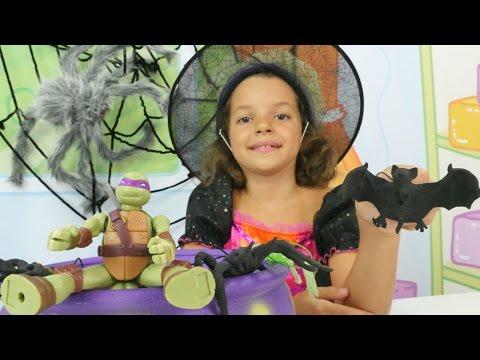Маленькая ведьмочка Кати - Играем с Ниндзя - Видео с игрушками