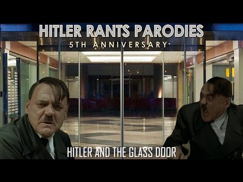 Hitler and the glass door