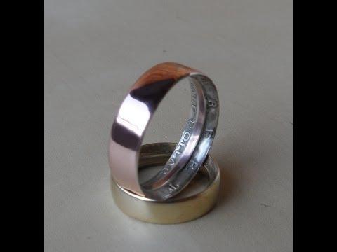 米ドル硬貨でリングを作成するメイキング映像!