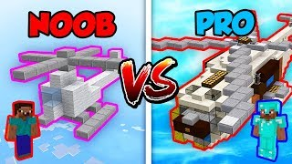 Minecraft NOOB vs. PRO: HELICOPTER in Minecraft!