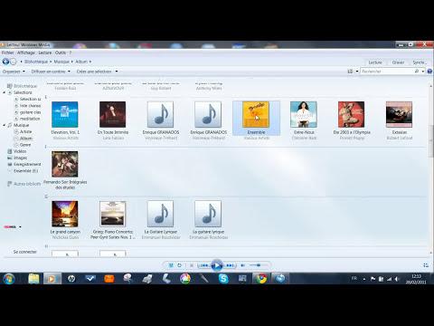 importer de la musique depuis un CD avec lecteur windows media