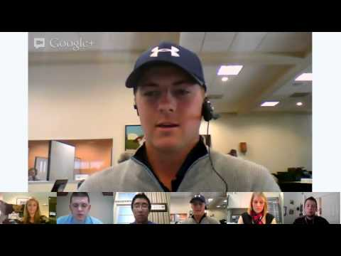 G+ Hangout with Jordan Spieth at Shell Houston Open