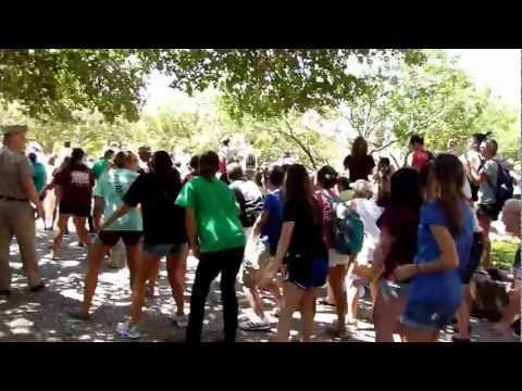 the Wobble (v.i.c) Flash Mob - Texas A&m Wobble (an Official Video) video