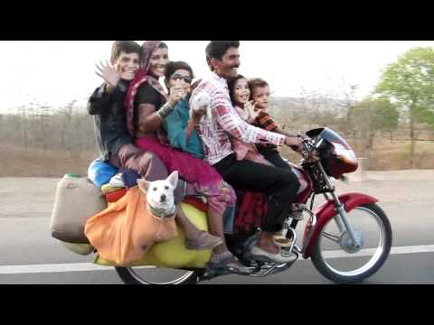 6 man Indian Bike (6 people 2 dogs and loads of luggage).avi