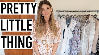 PRETTY LITTLE THING DRESSES HAUL | SPRING SUMMER | OCCASION WEAR | MODEL MOUTH | AD