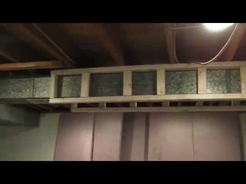 How To Frame Ductwork In Your Basement Youtube