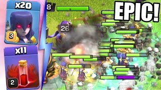 Clash Of Clans | ALL WITCHES & SKELETON SPELLS!! MASS GAMEPLAY! | New Update May 2016!