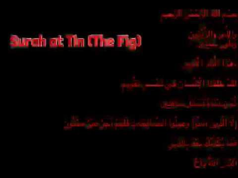 Surah at Tin (The Fig) W/ Arabic