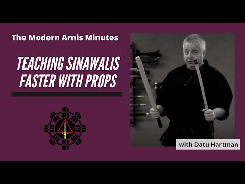 Modern Arnis Minute #14 - Teaching Sinawalis faster with Props. Image 1