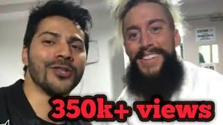 Varun Dhawan meets with WWE superstars | Sasha banks, Enzo , triple H | WWE live India