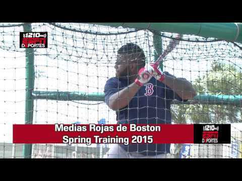 Pablo Sandoval Medias Rojas de Boston Spring Training 2015