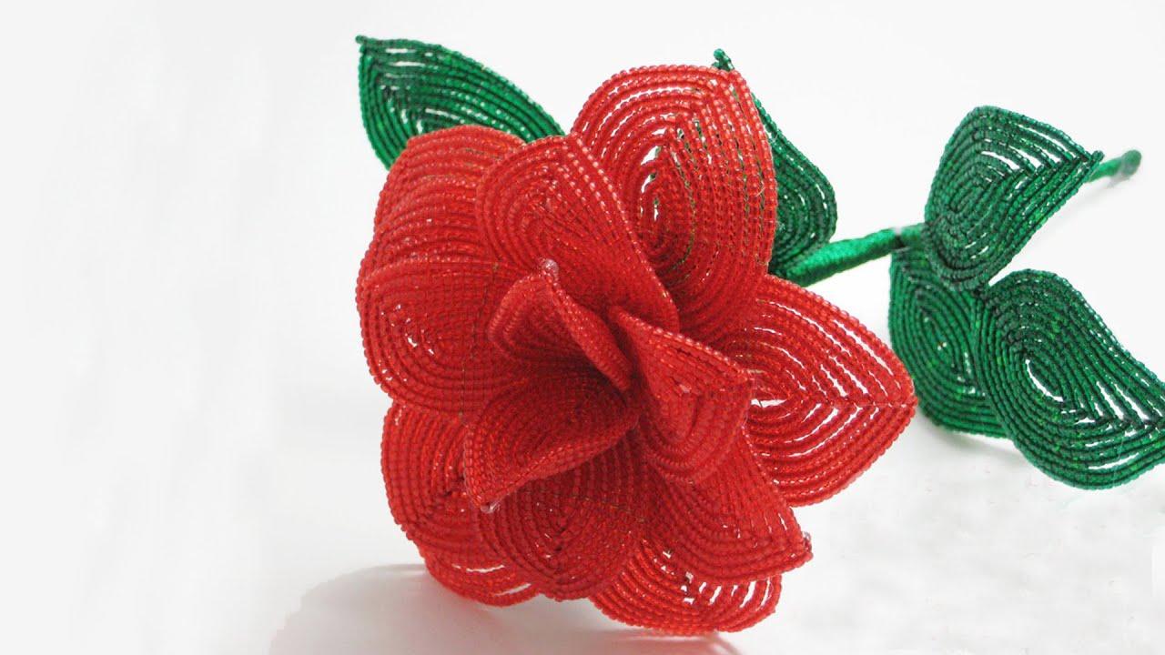 Розы из бисера для начинающих пошагово