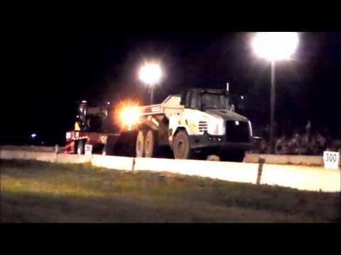 Terex 6x6 Off Road Dump Truck pulling the sled in Marengo, IA 8/24/2013