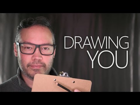 Drawing You With A Pencil ~ ASMR/Writing Sounds/Binaural