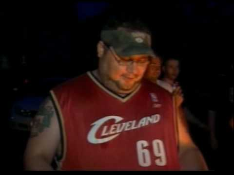 Cavs fans burning Lebron James jerseys and clothing
