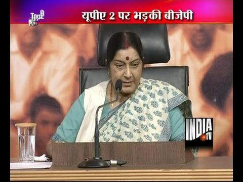 Sushma Swaraj attack UPA govt over corruption