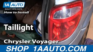 How To Install Replace Taillight Dodge Caravan Chrysler Town and Country 01-07 1AAuto.com