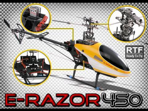 E-razor 450 RC Helicopter Review Availalble in 2.4ghz