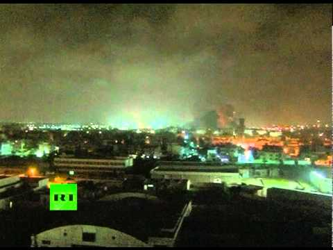 Bombing Non-Stop: Video of NATO missiles ripping Tripoli