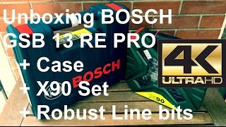 Unboxing Bosch GSB 13 RE PRO + Case + Robust Line bits + X90 Set [iPhone6S+]