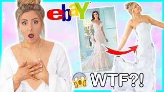 Trying On Cheap Wedding Dresses From Ebay ! Success Or Disaster !