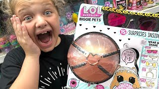 TOY Shopping at Walmart For LOL SURPRISE BIGGIE PETS LOL DOLLS