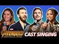 Full Cast of Avengers: Infinity War Singing (REAL VOICE!!!)