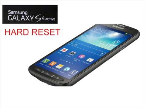 SAMSUNG GALAXY S4 ACTIVE hard reset...............