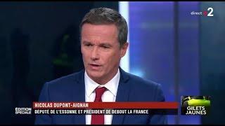 Nicolas Dupont-Aignan invité de France 2