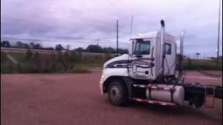 Loud Mack truck taking off